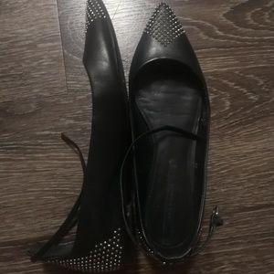Zara studded pointed toe flats